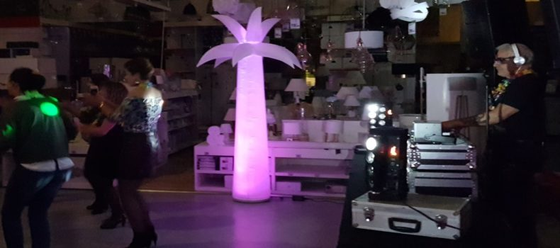 location palmier gonflable lumineux